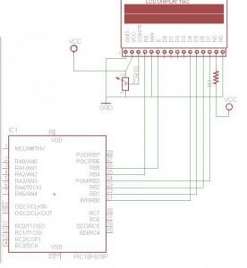 Pic16f876 LCD 16x2